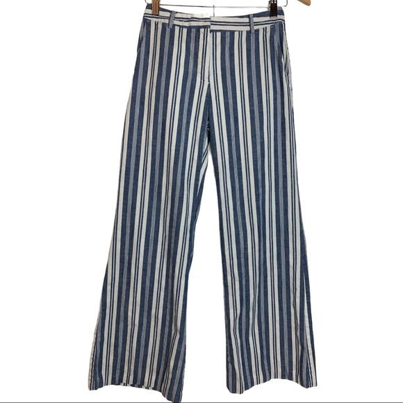Michael Michael Kors Cotton Striped Wide Pant Sz 0